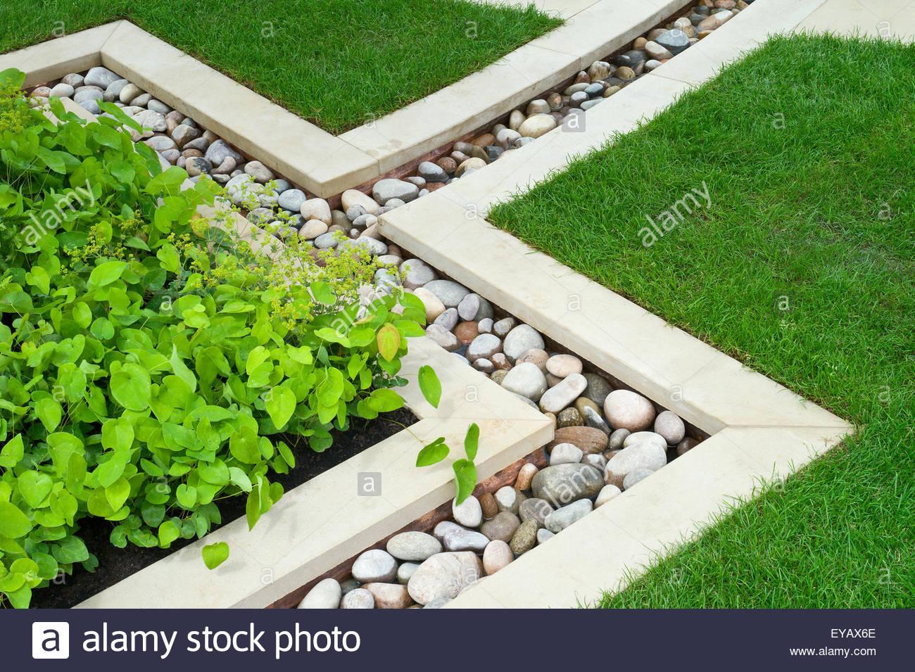 White Pebbles For Landscaping. White Pebble Cobblestone Mosaic Path ...
