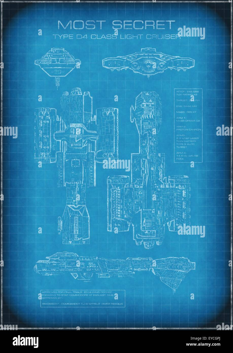 Top secret spaceship blueprint with text stock photo royalty free top secret spaceship blueprint with text malvernweather Image collections
