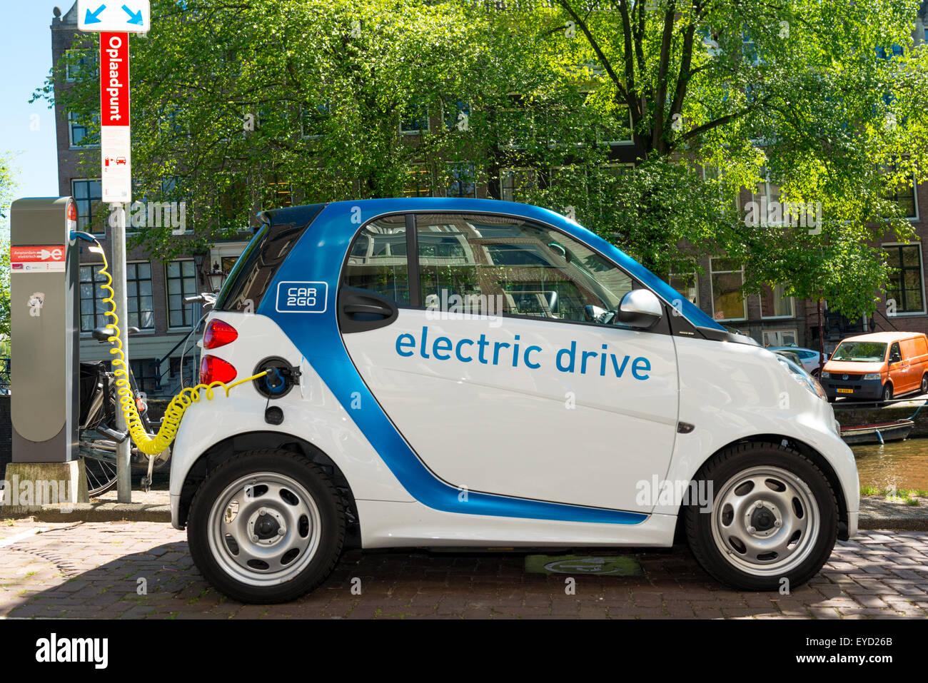 Electric Car Charging Netherlands Stock Photos Electric Car