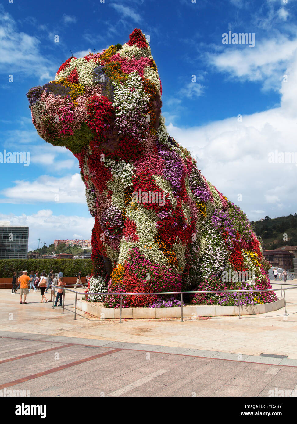 Coloring book by jeff koons - Jeff Koons Puppy Sculpture In Bilbao Spain Stock Image
