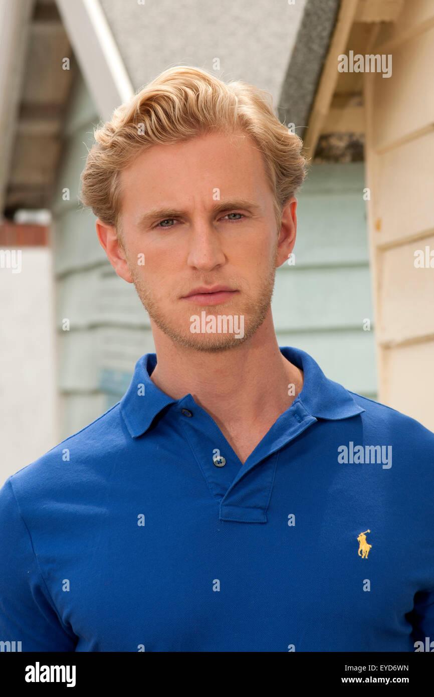 A blonde man