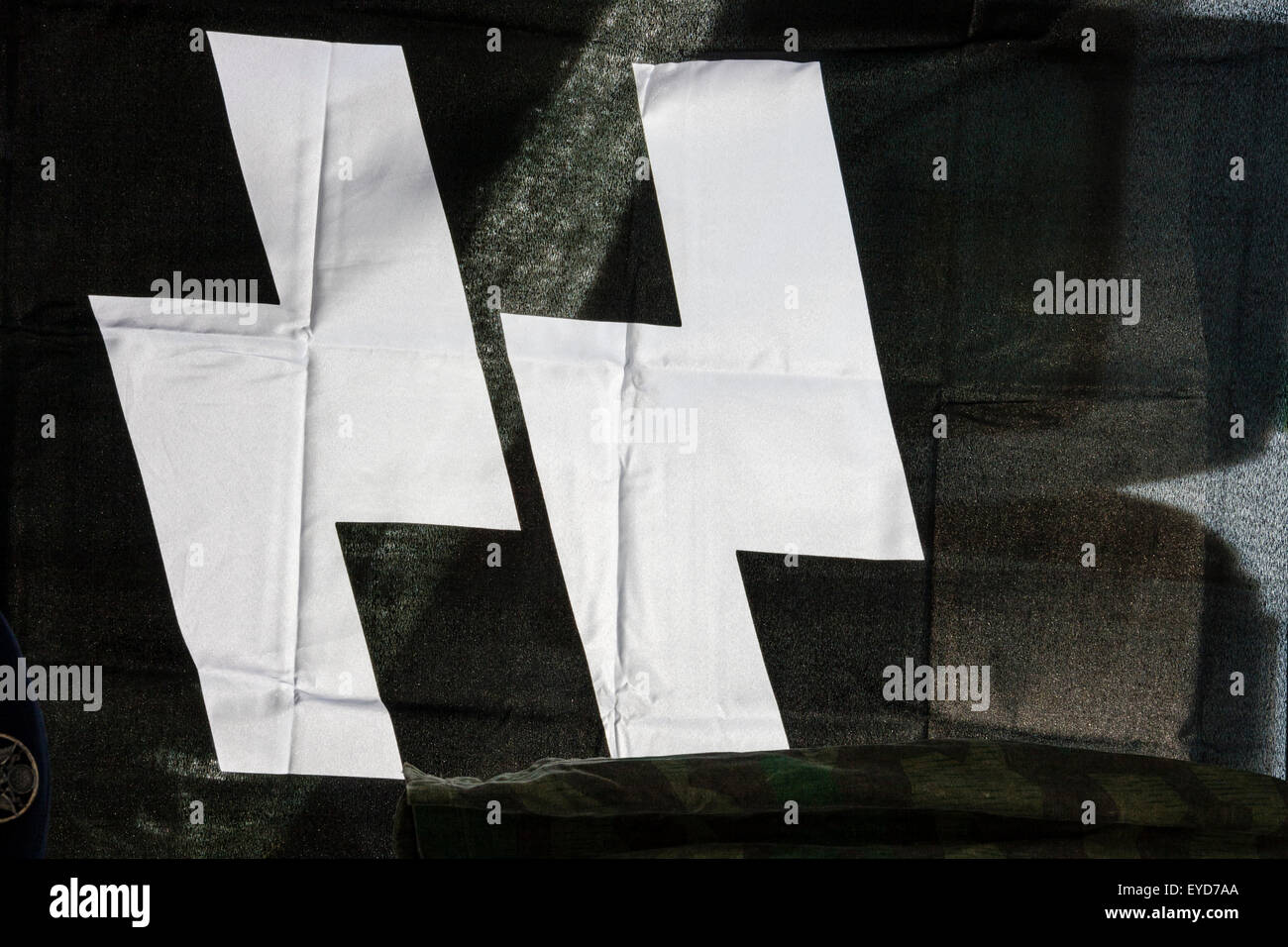 World war two nazi ss flag white on black close up of the ss world war two nazi ss flag white on black close up of the ss symbol biocorpaavc Image collections