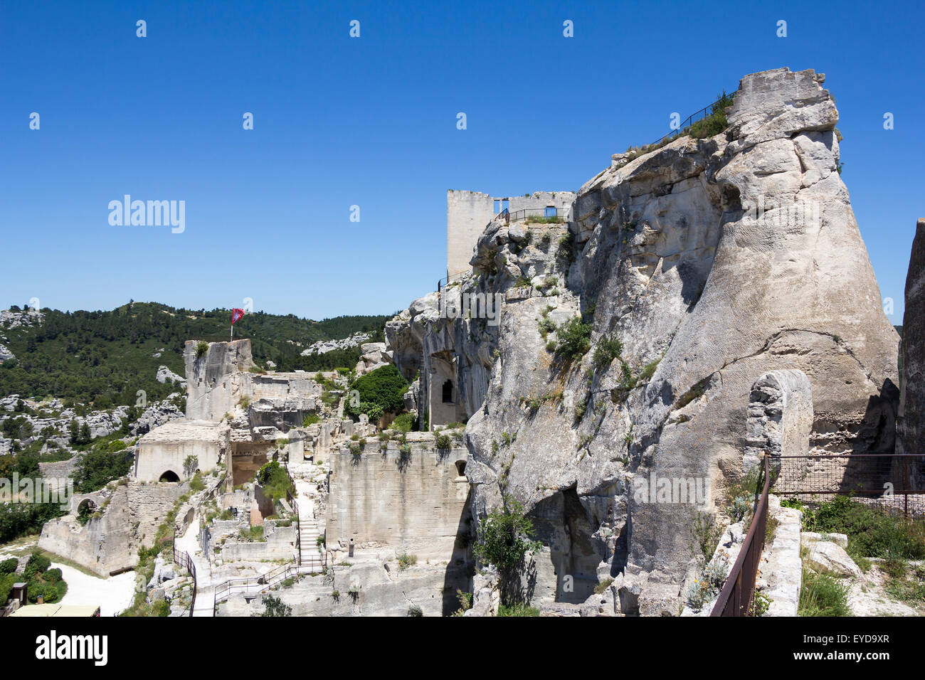 The Castle Of Chateau Des Baux De Provence France Europe