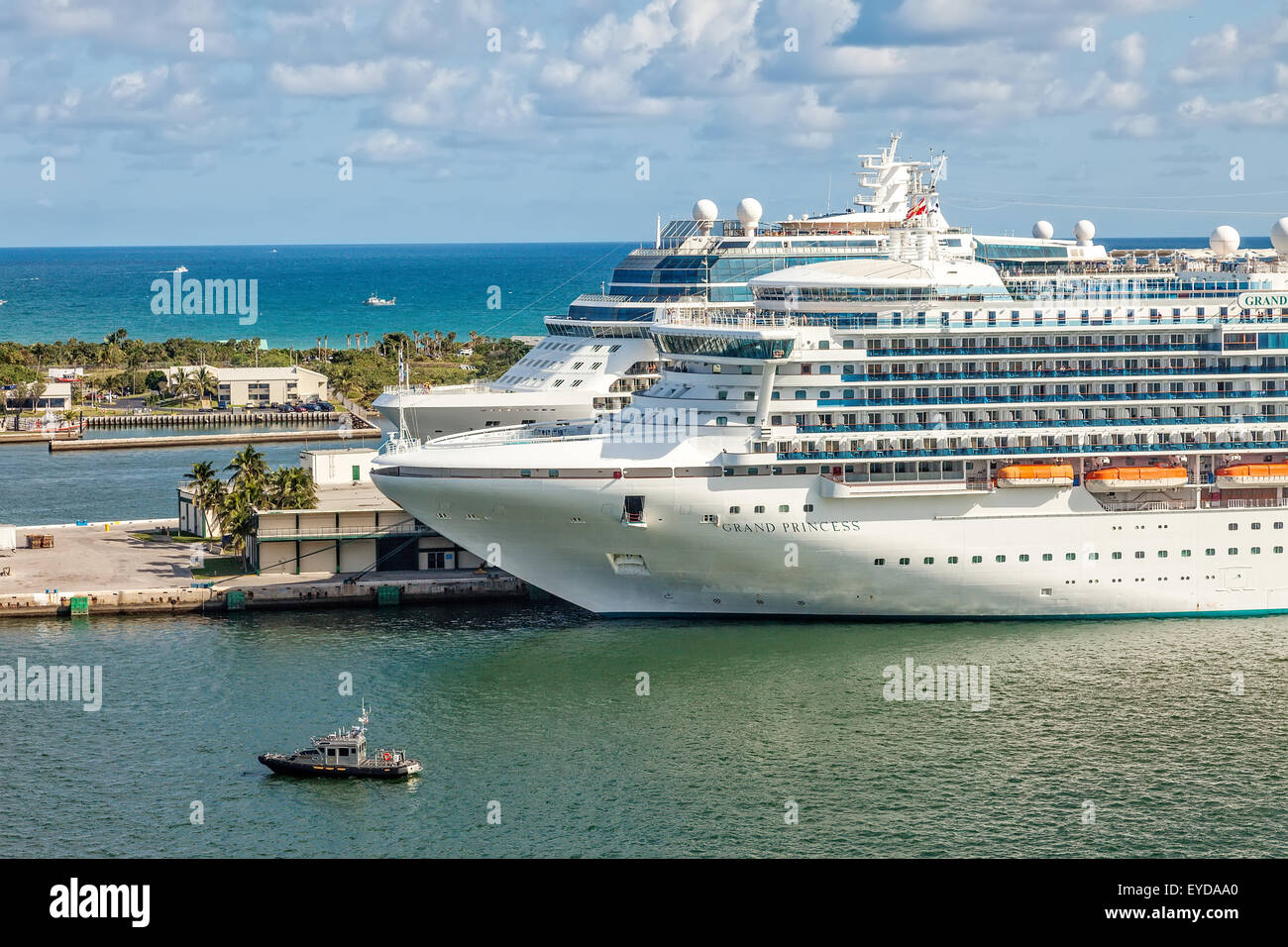 Cruise Ships Anchored In Port Everglades One Of The Biggest - Biggest cruise ships
