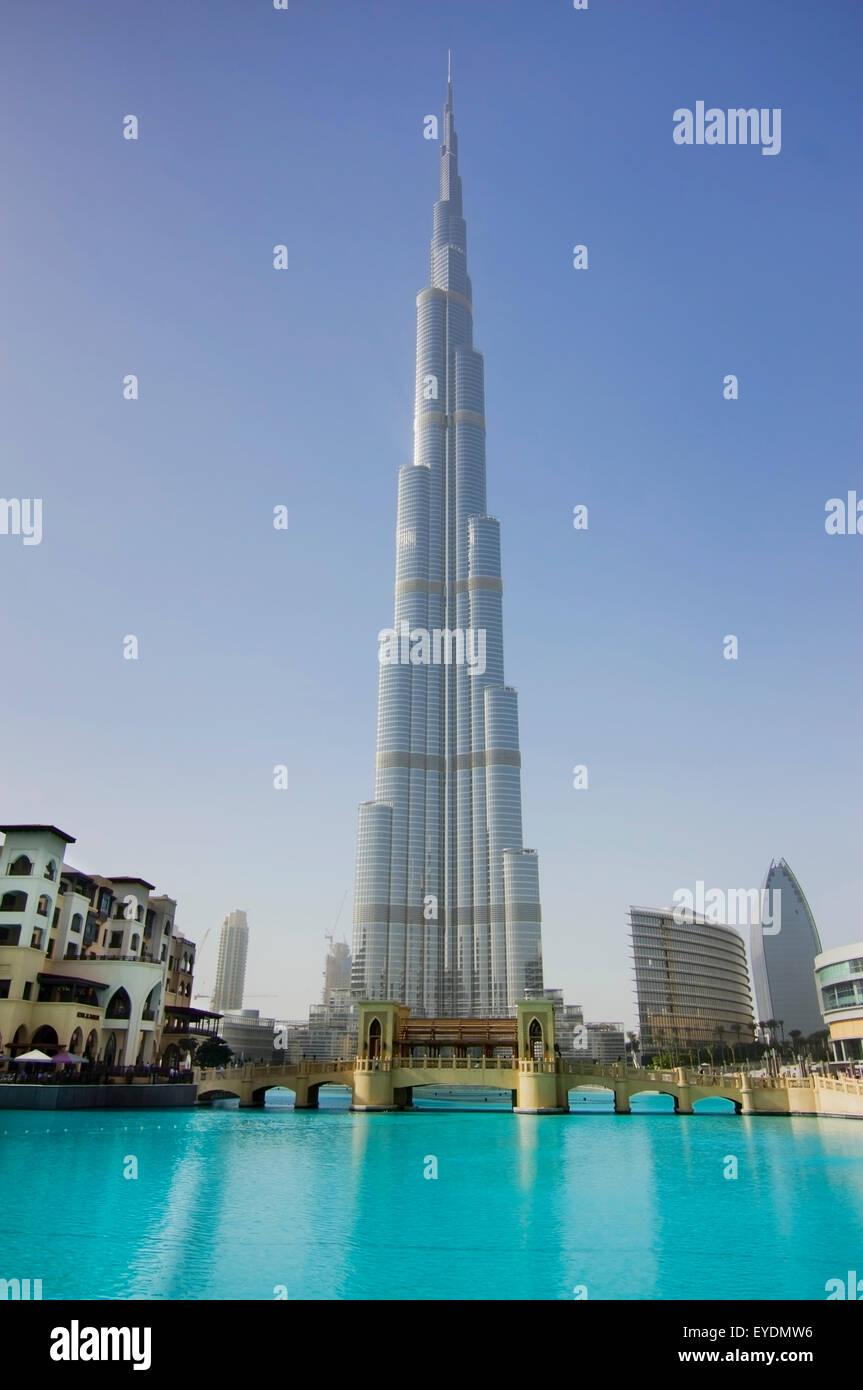United Arab Emirates, View of Burj Khalifa hotel; Dubai Stock Photo, Royalty Free Image ...