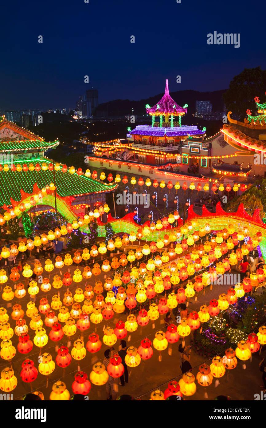 fantastic lighting. stock photo - the fantastic lighting of kek lok si temple; penang, malaysia