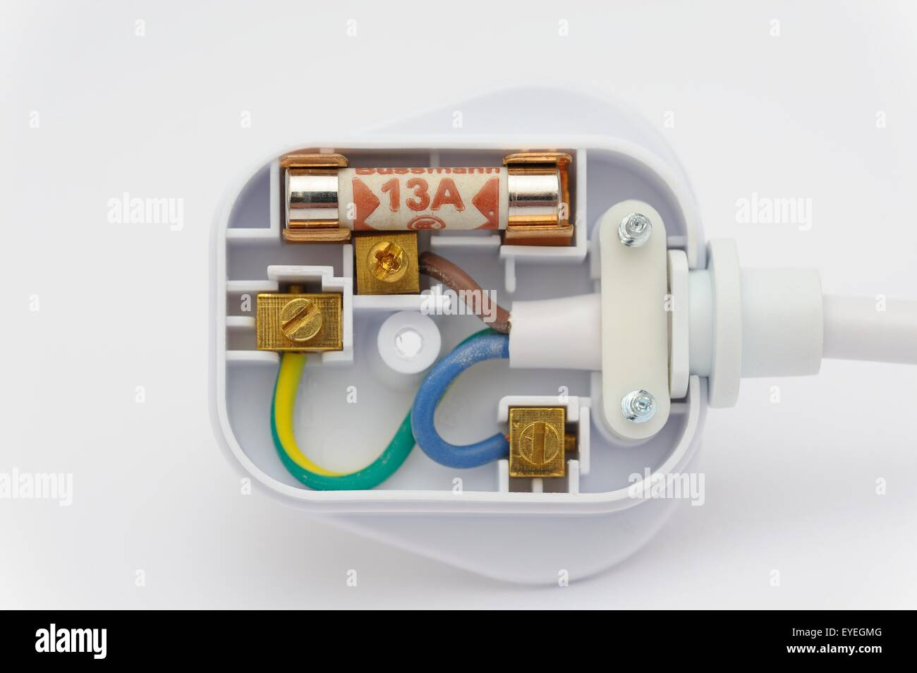 a 13 amp fused domestic plug showing the internal wiring Fused Receptacle Fused Plugs for Christmas Lights