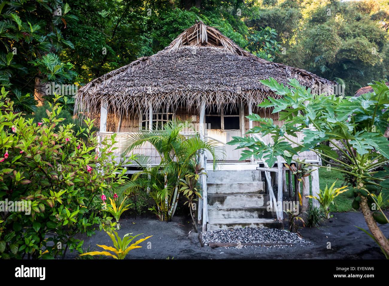 A Small Beach Bungalow Near Yasur Volcano Tanna Island Vanuatu