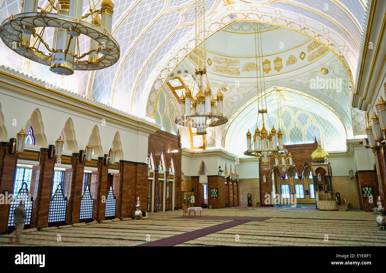 Interior Of The Sultan Omar Ali Saifuddien Mosque Bandar