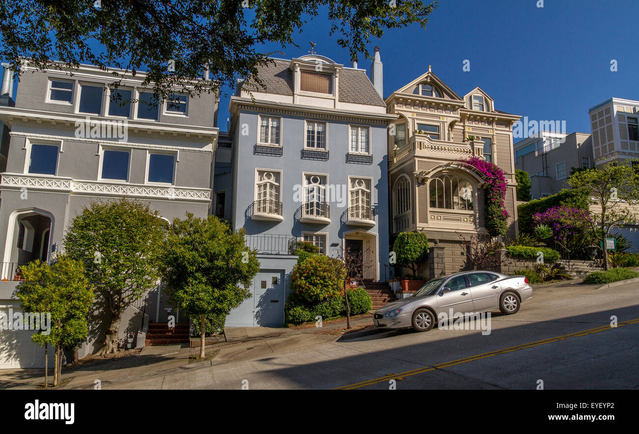 Luxury Homes In The Affluent Pacific Heights Area Of San