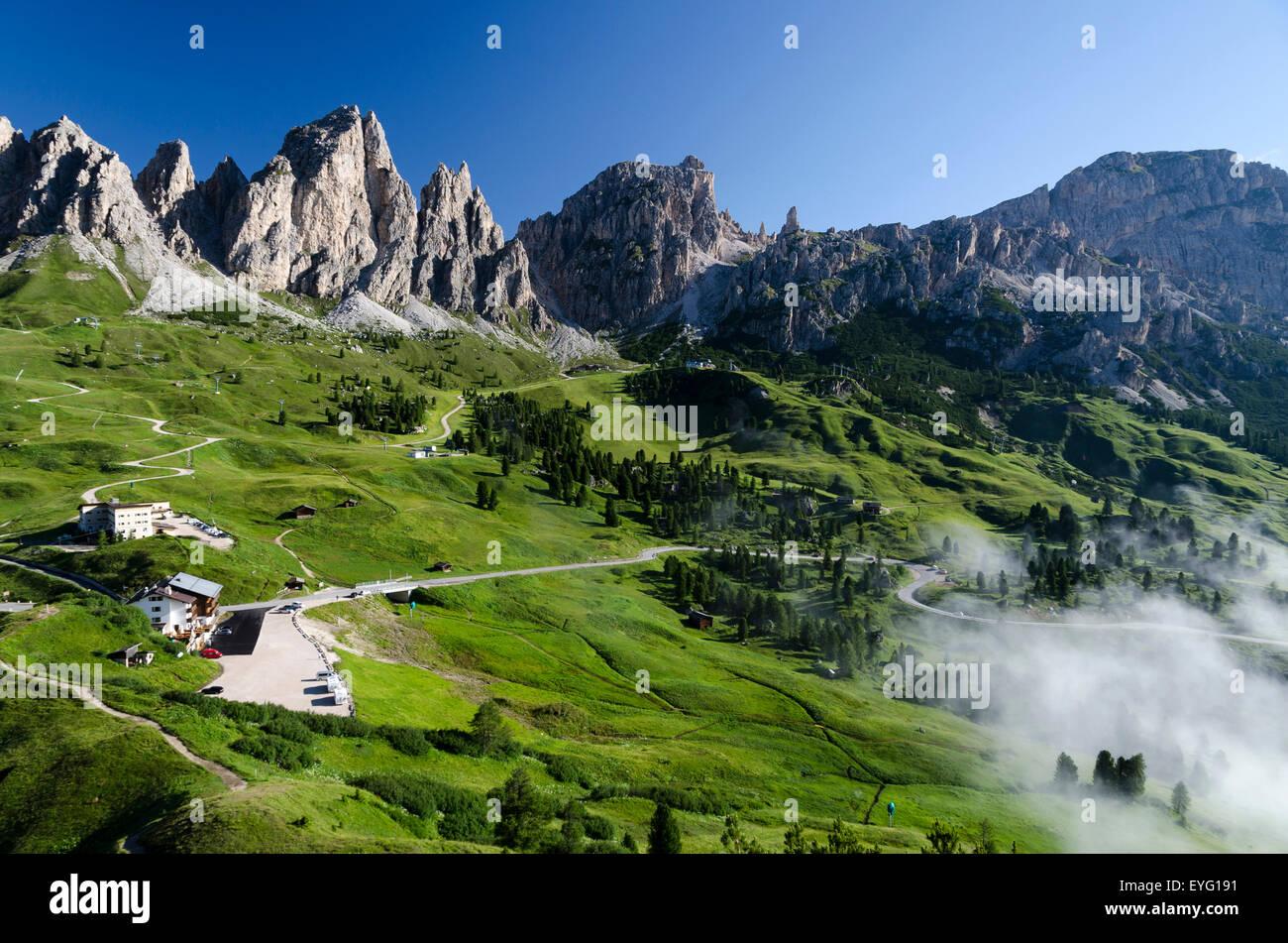 Italy Dolomitesgardena Pass Gr 246 Dner Joch Between Gardena Valley And Stock Photo Royalty Free