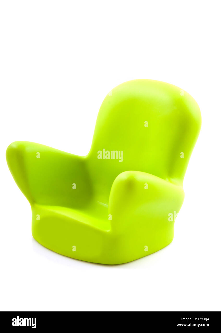 modern green chair on a white background stock photo royalty free  - modern green chair on a white background