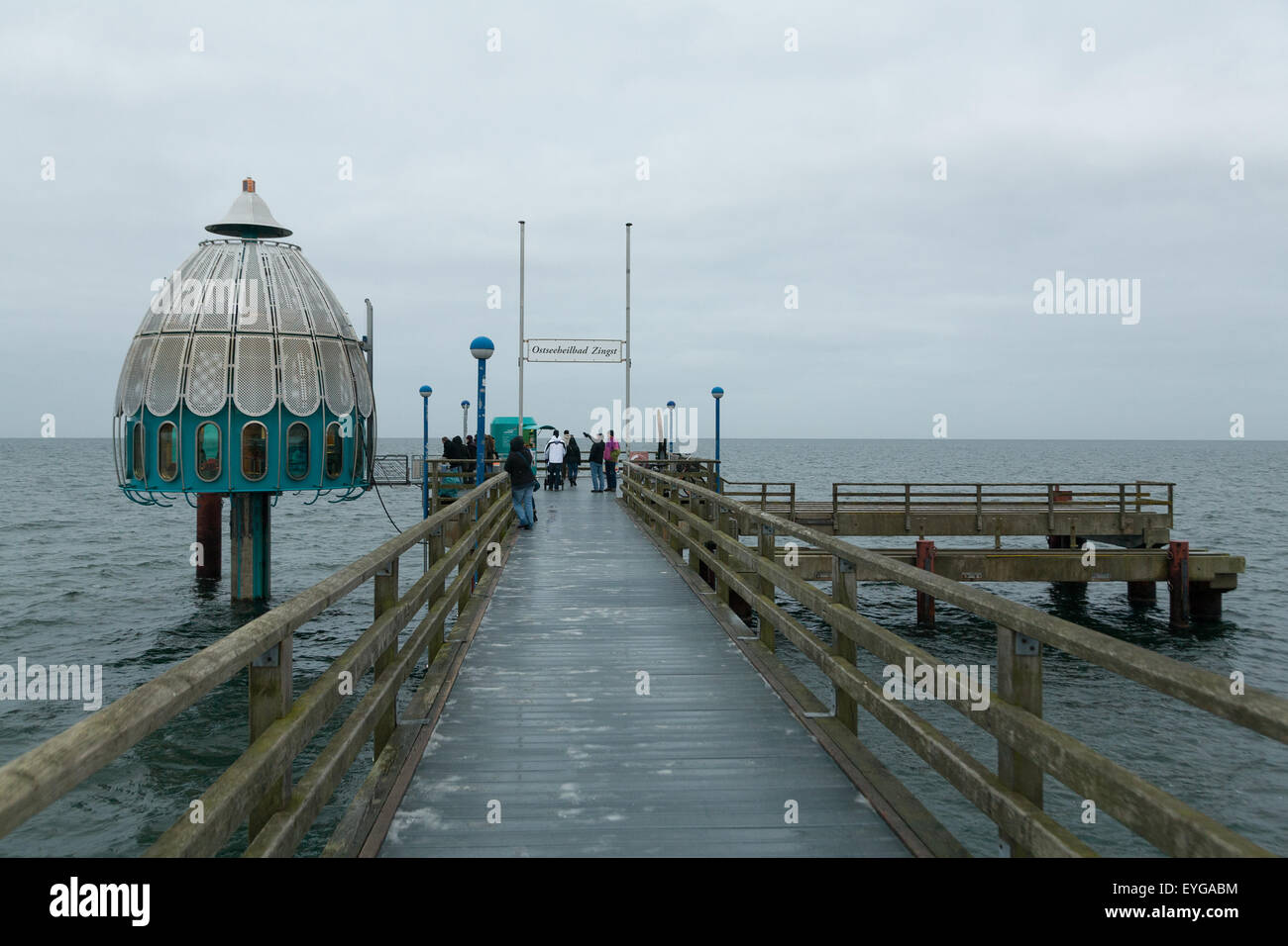 Zingst Germany  city pictures gallery : Zingst, Germany, The Diving Capsule At The Pier Stockfoto ...
