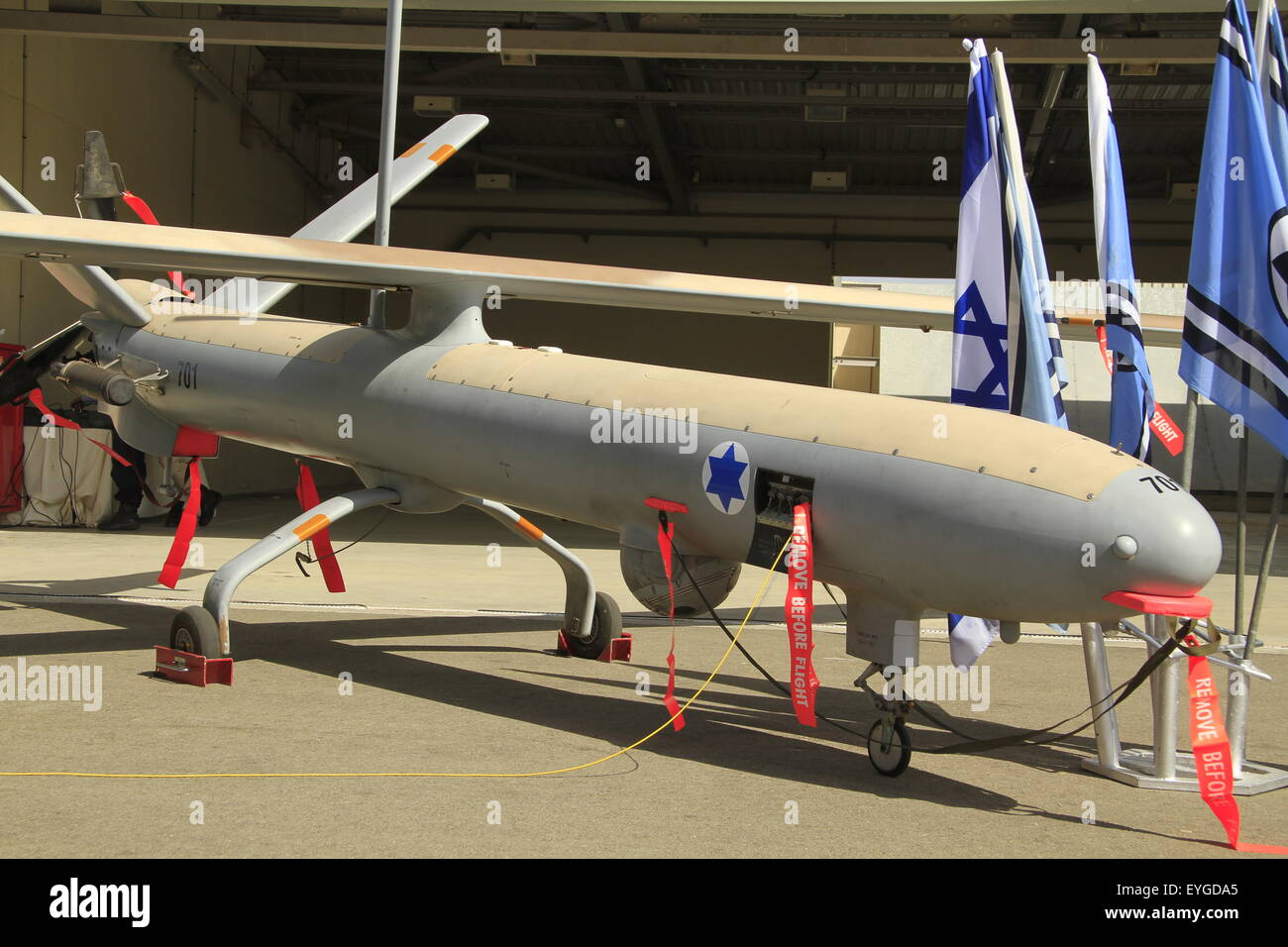 Israeli Made Hermes 450 UAV At Palmachim Air Force Base The Drone By