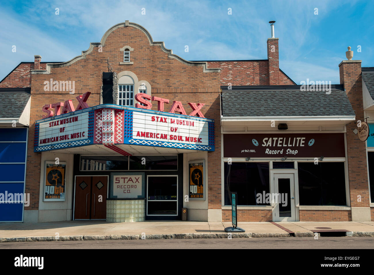 USA Tennessee Stax Museum Of American Soul Music Memphis Stock - Music museums in usa