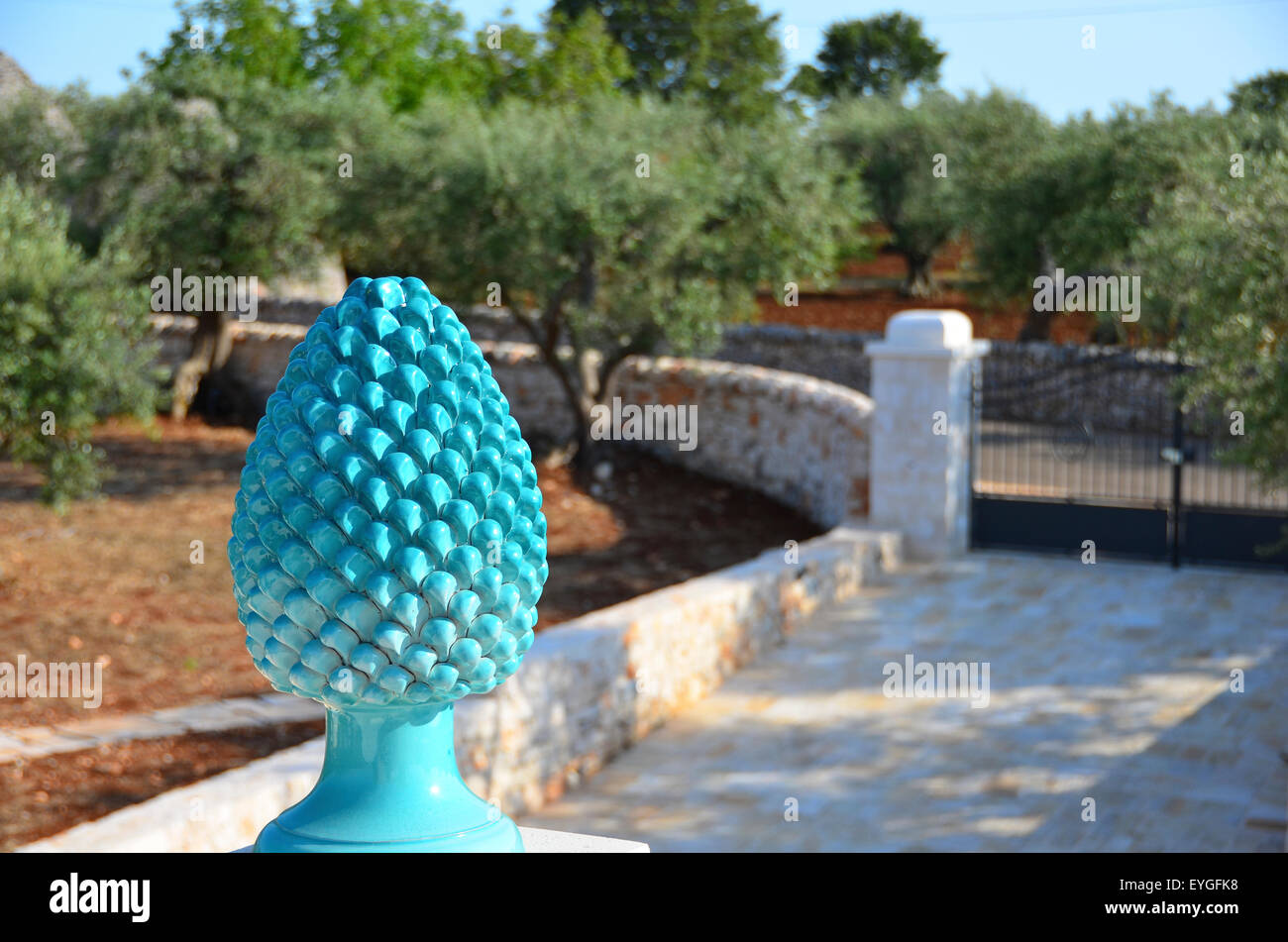 The pine cone is a good luck symbol on this villa in puglia italy the pine cone is a good luck symbol on this villa in puglia italy buycottarizona