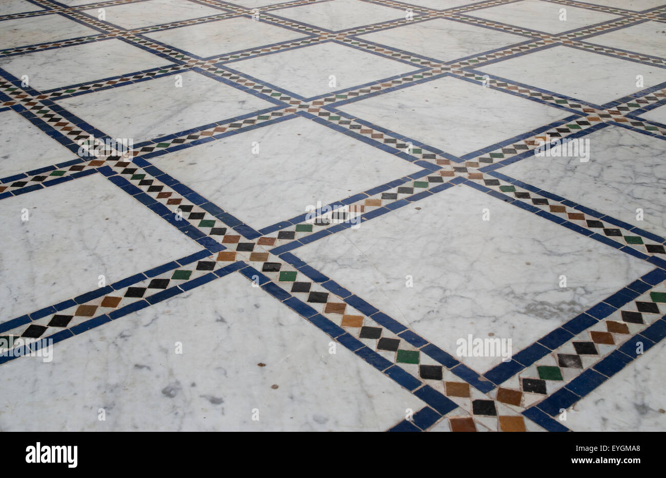 morocco bahia palace marrakech mosaic tile floor detail. Black Bedroom Furniture Sets. Home Design Ideas
