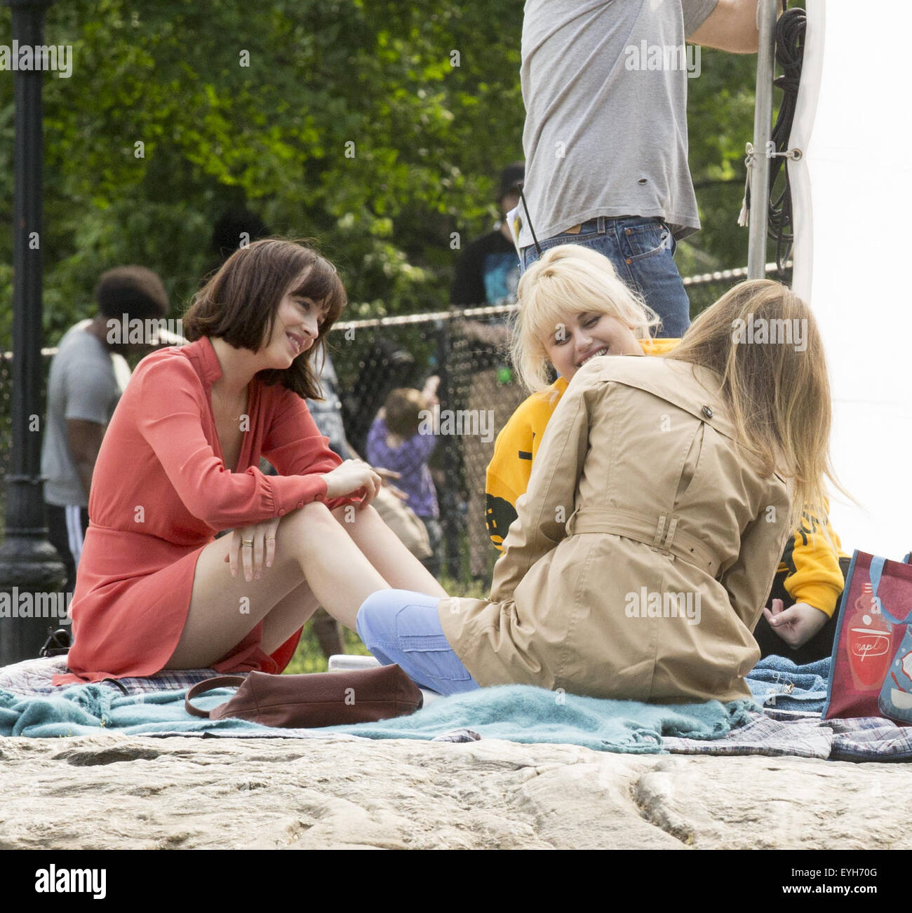 On location with how to be single featuring dakota johnson rebel on location with how to be single featuring dakota johnson rebel wilson where new york new york united states when 29 may 2015 c ccuart Images
