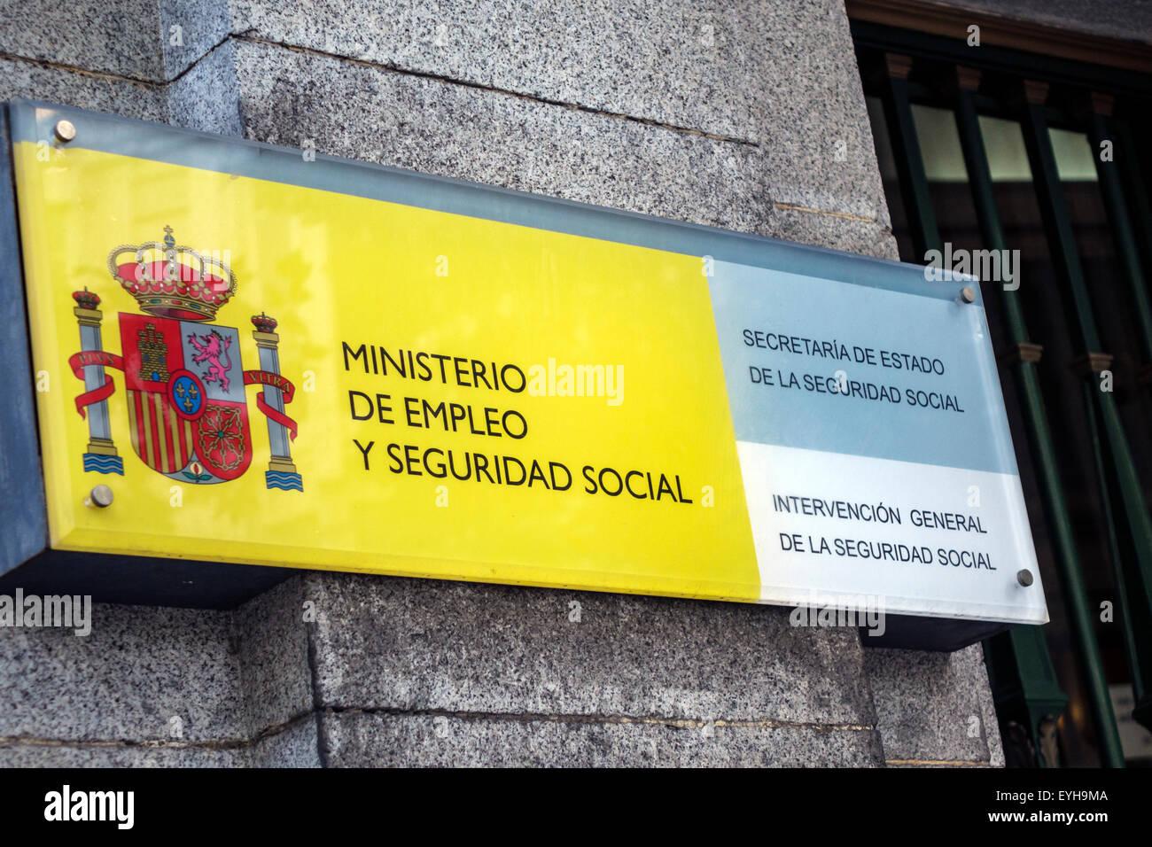 Madrid spain europe spanish ministerio de empleo y for Ministerio de seguridad espana