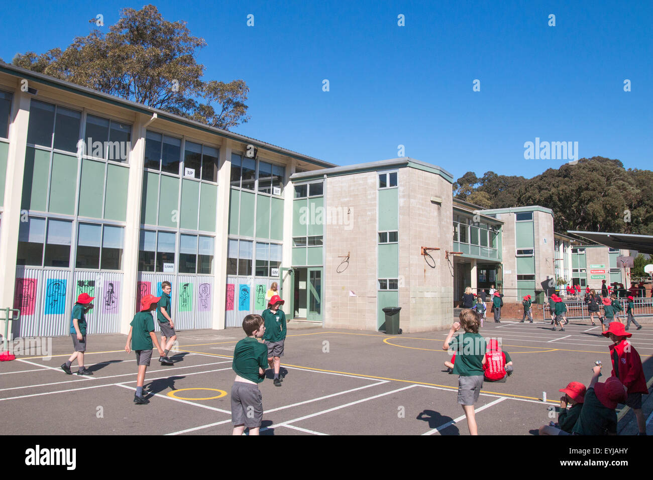 School Children Playing Games In Their Primary School Stock Photo Royalty Free Image 85840663