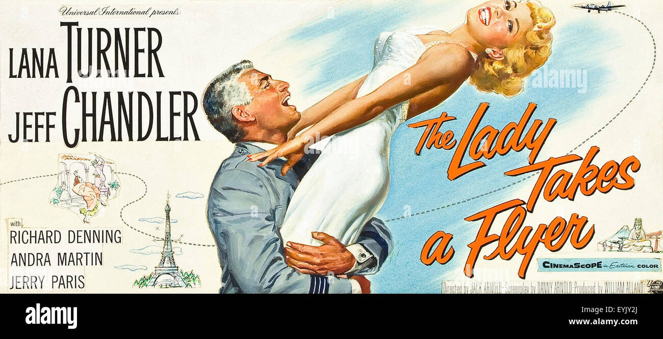 The Lady Takes a Flyer Lana Turner Movie Poster Photo – Movie Flyer