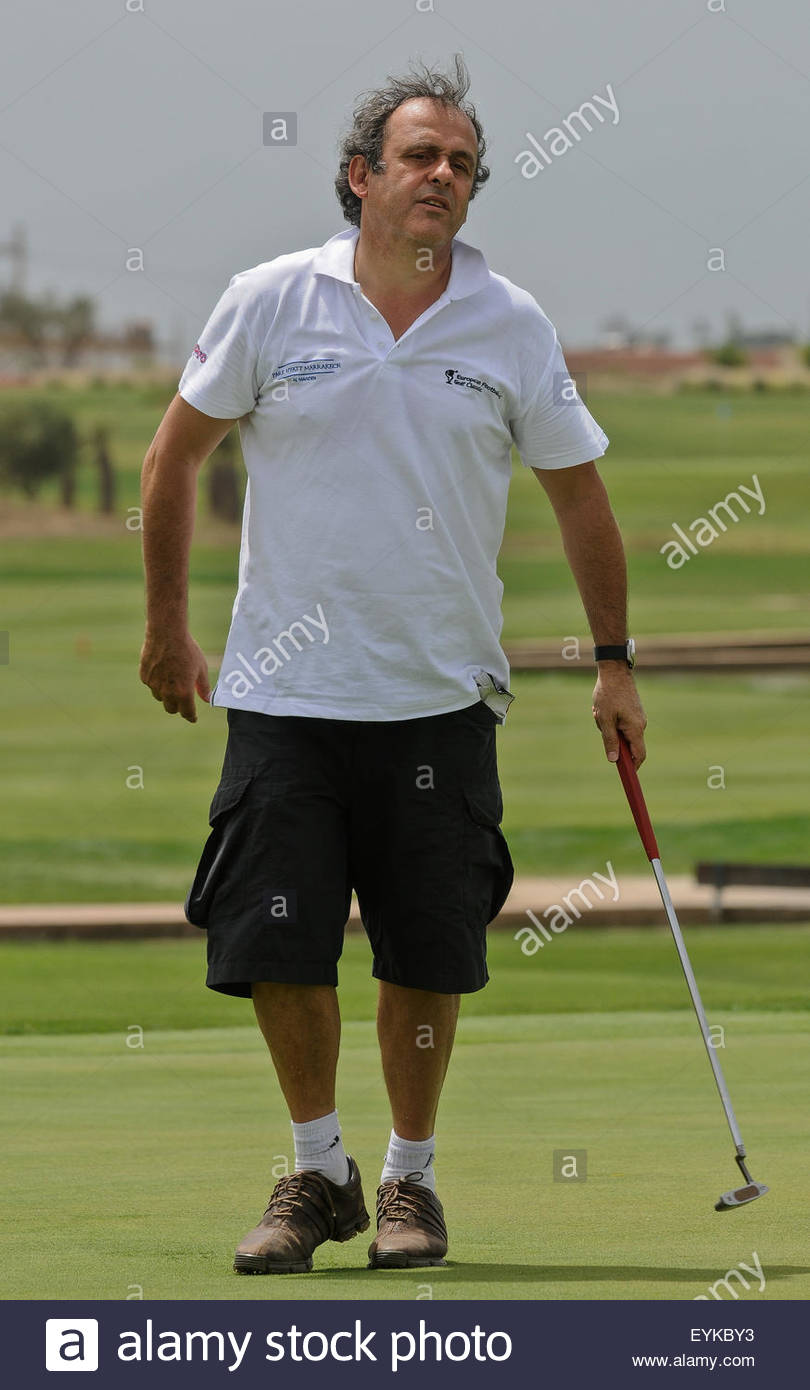 Morocco Marrakesh Michel Platini Fra President the UEFA Plays
