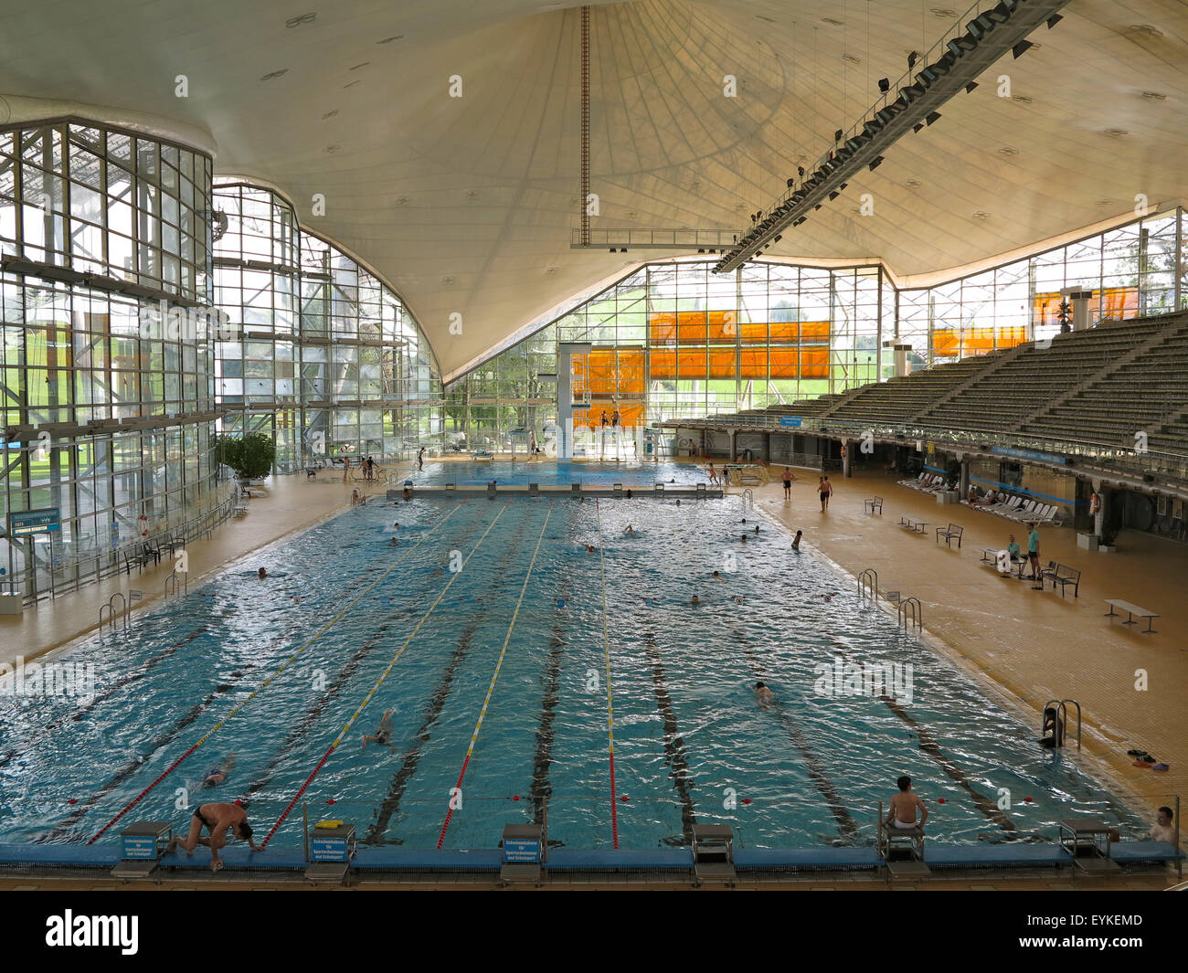 Germany Upper Bavaria Munich Olympic Park Swimming Hall