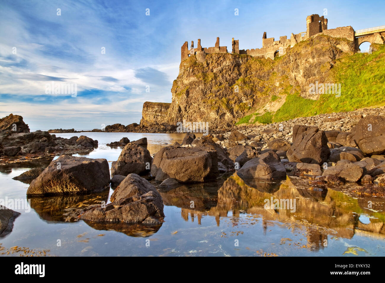 Dunluce Castle, House of Greyjoy, Game of Thrones Stock Photo ...