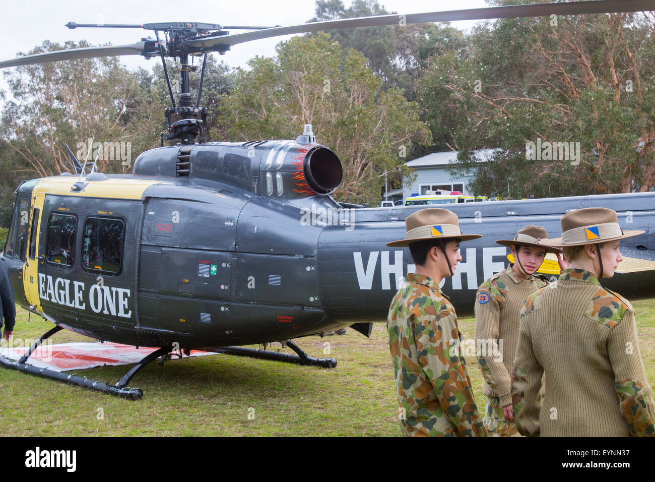 Bell UH-1 Iroquois huey helicopter at a Sydney military ...