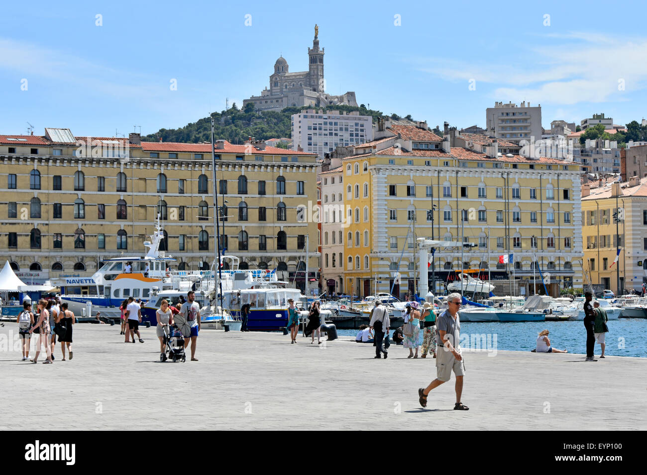Marseille marseilles france waterfront in the old port of - Promenade bateau marseille vieux port ...