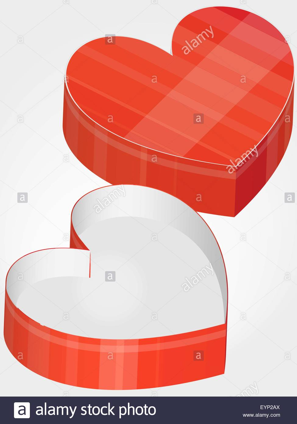 Empty heart shaped chocolate box stock vector art illustration empty heart shaped chocolate box ccuart Images