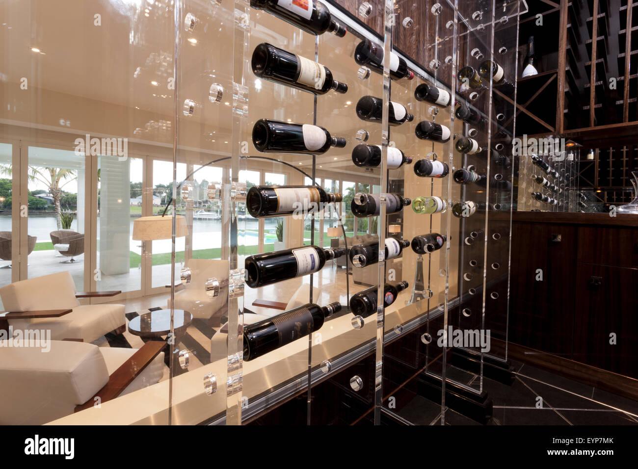 modern wine storage shelves found in a living room of a moden  - modern wine storage shelves found in a living room of a moden house