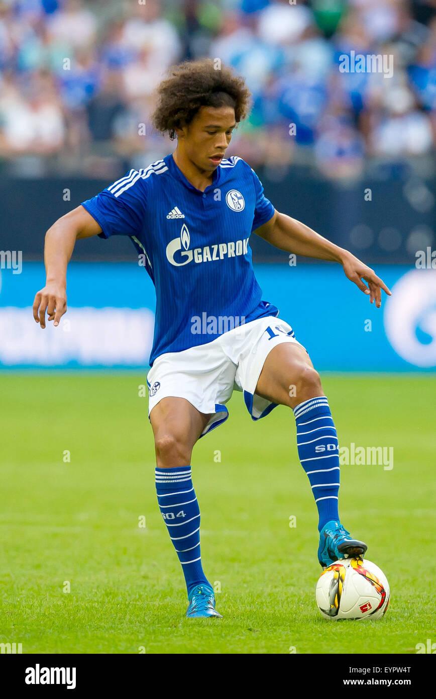 Gelsenkirchen Germany 02nd Aug 2015 Schalke s Leroy Sane in