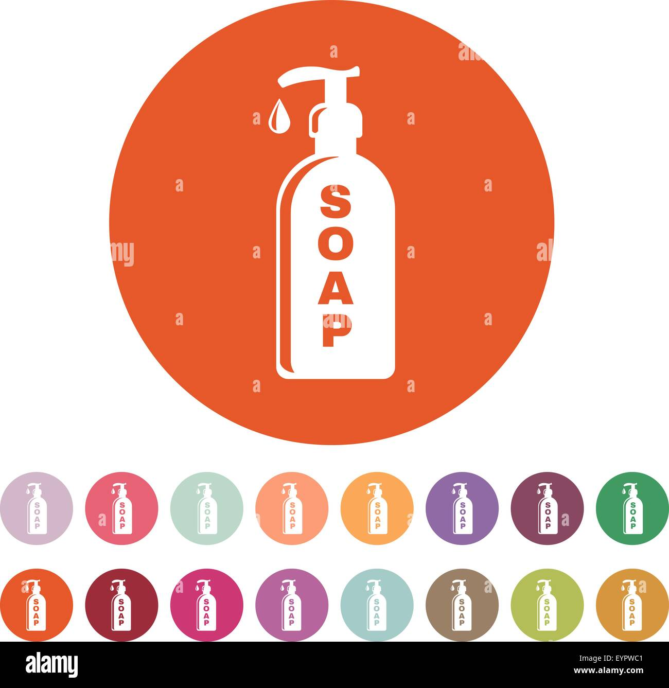 The liquid soap icon hand wash symbol flat stock vector art hand wash symbol flat buycottarizona Image collections