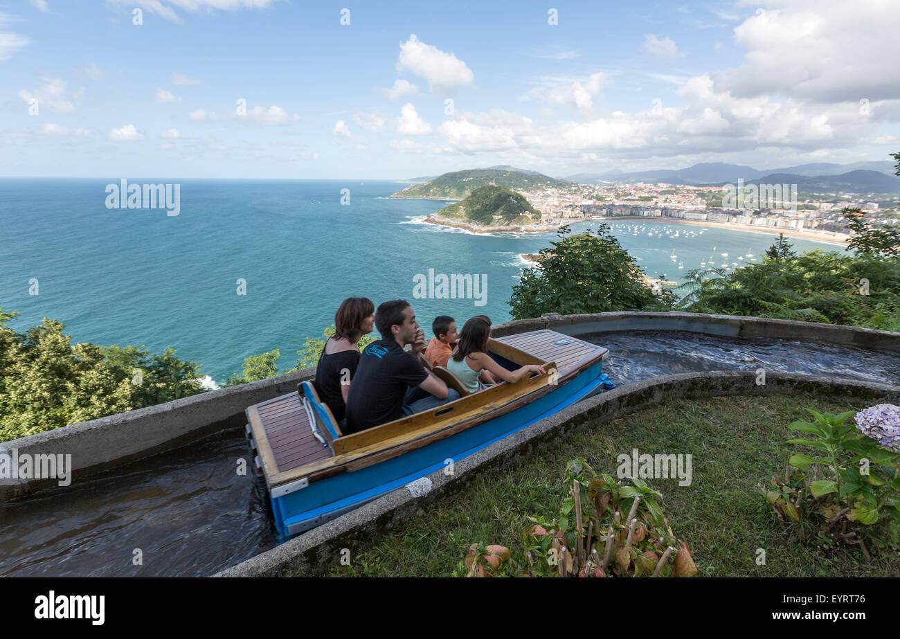 boat ride overlooking the spectacular view of san sebastian in the stock photo royalty free. Black Bedroom Furniture Sets. Home Design Ideas