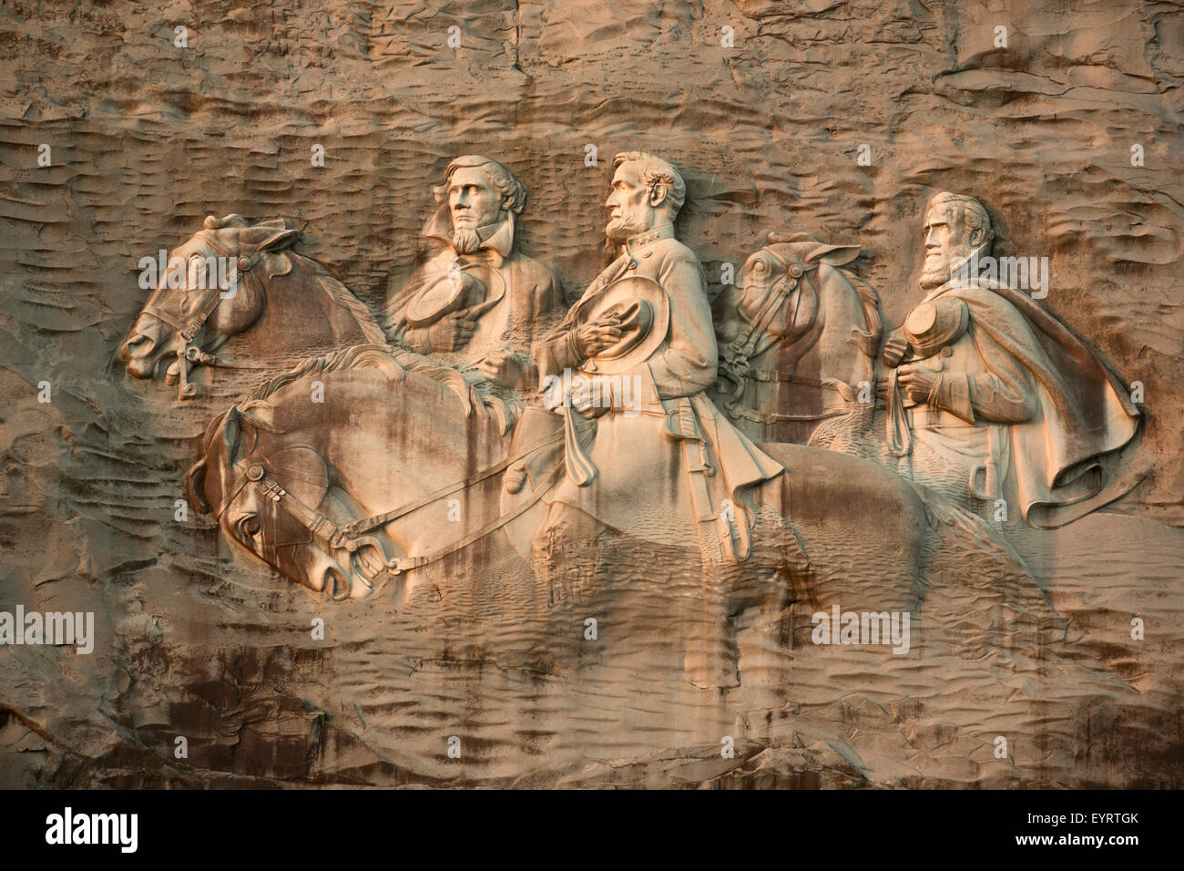 Bas relief carving of confederate american civil war
