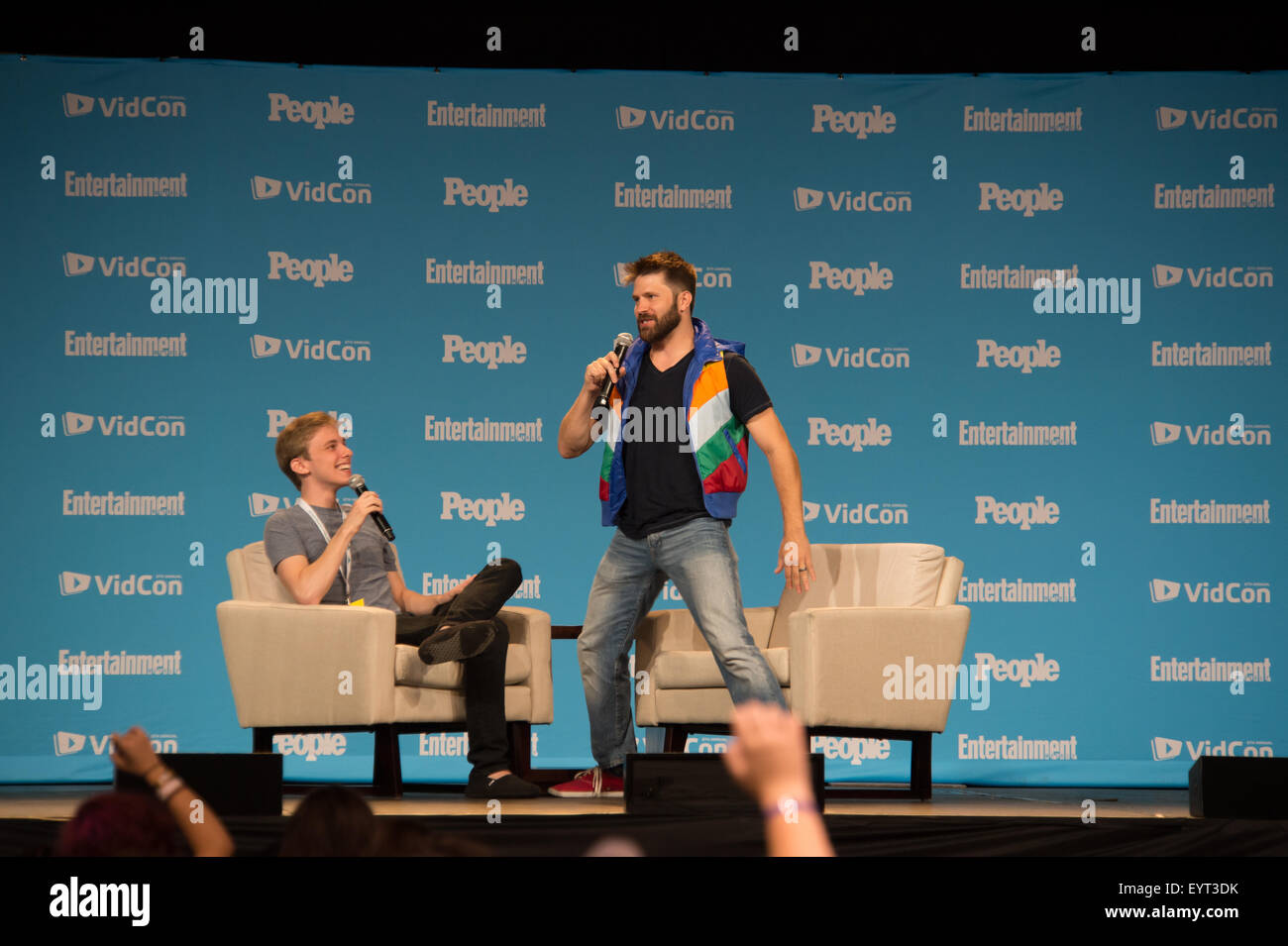 anaheim ca people magazine s joe bereta r interviews anaheim ca 23 people magazine s joe bereta r interviews online celebrity jon cozart at the 6th annual vidcon conferen