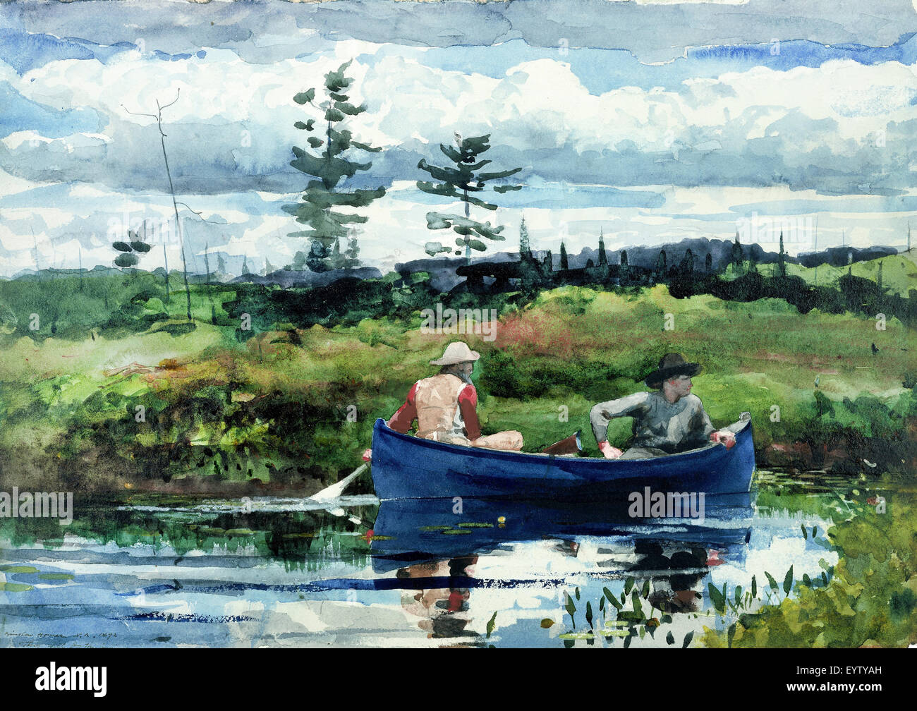 Winslow Homer The Blue Boat Painting