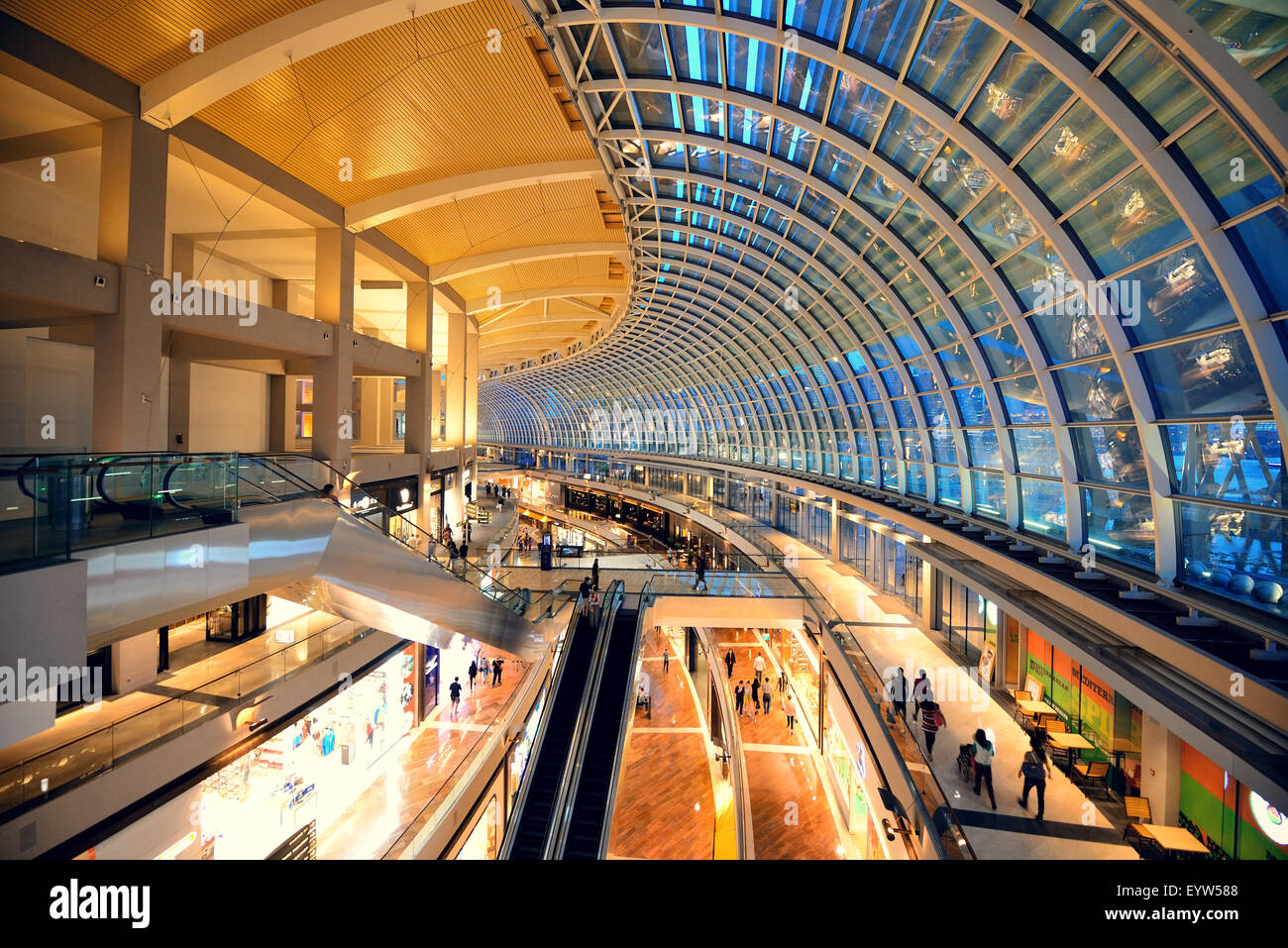 Bay Sands In Singapore The World S Most Expensive Hotel - Singapore apr 5 marina bay sands hotel interior on april 5 2014 in singapore it is the world s most expensive building with cost of us 4 7 billion and