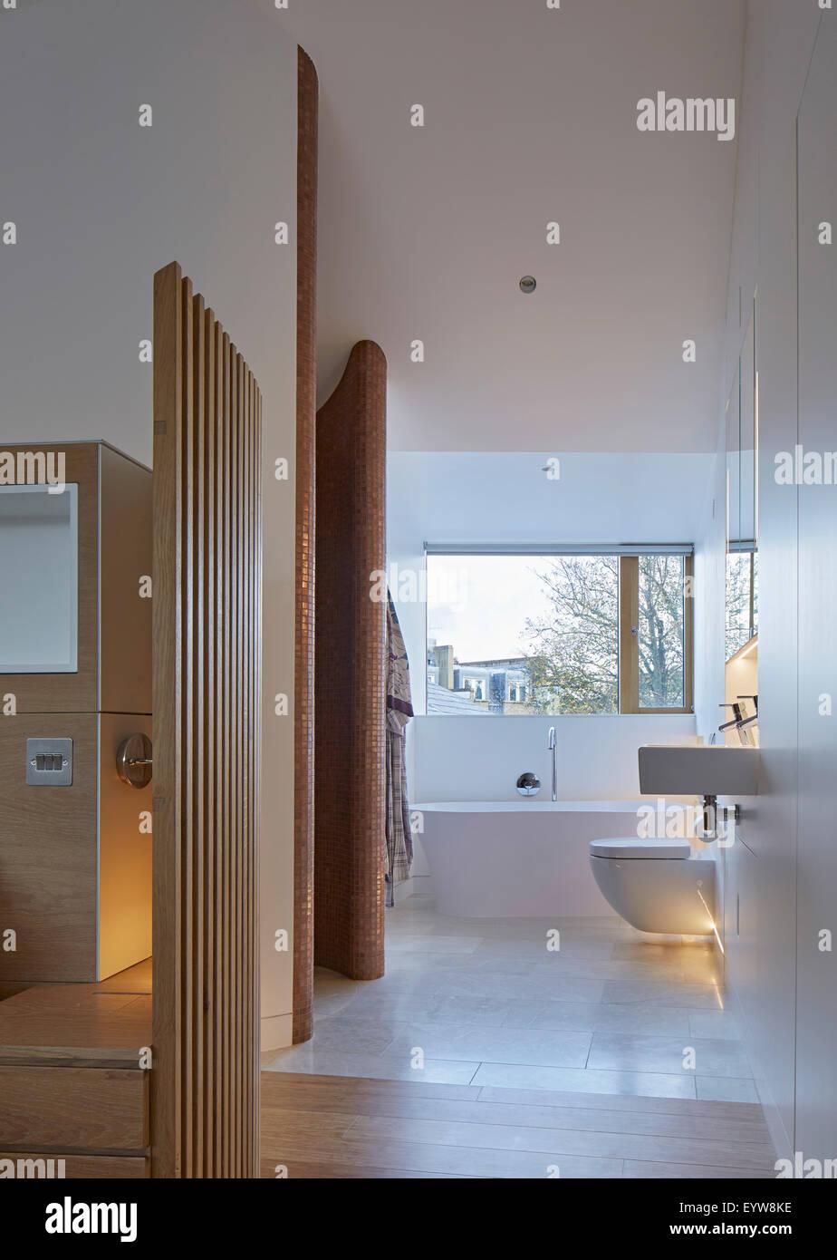 Bathroom Windows London bathroom with large rectangular window. london brownstones, london