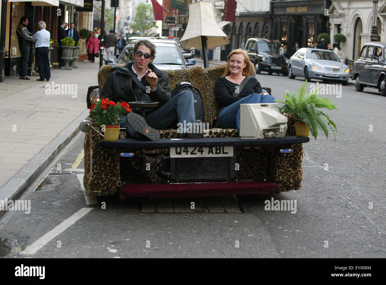 Edd China Back In 2003 In Bond Street London On His Sofa
