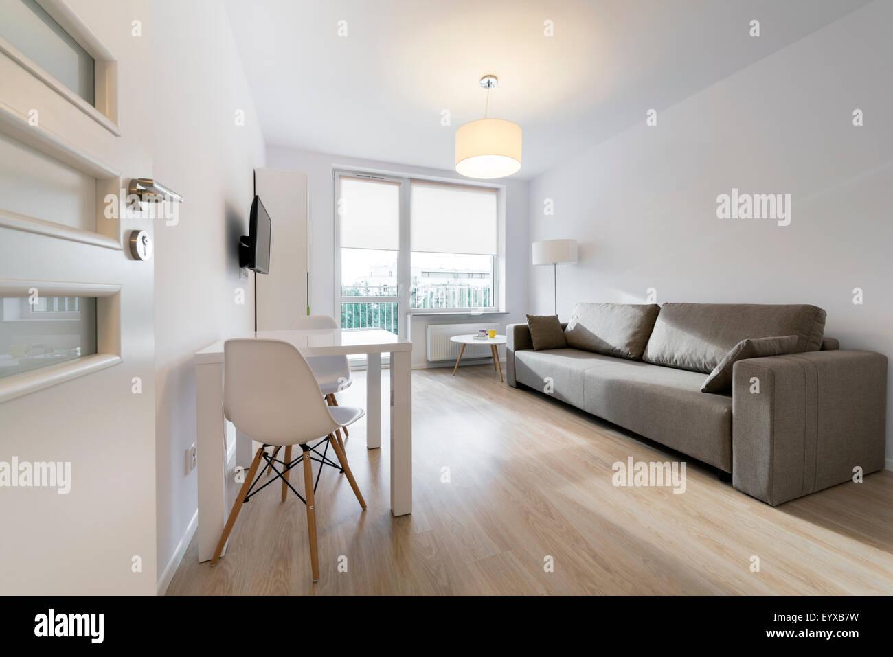 Compact  modern sleeping room interior design. Compact  Modern Sleeping Room Interior Design Stock Photo  Royalty