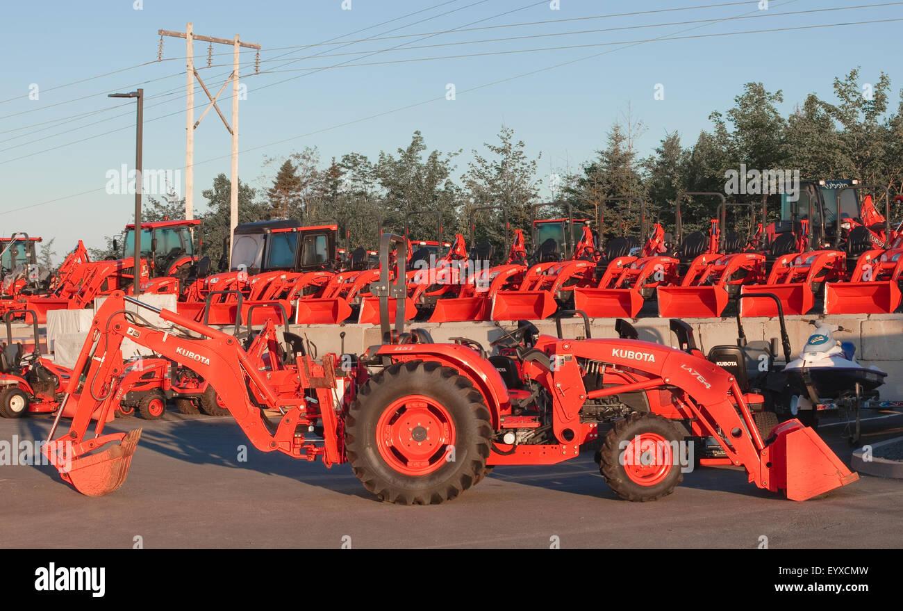 Kubota tractors for sale in kentucky - Dartmouth Canada August 02 2015 Kubota Tractors Display Kubota Corporation Is