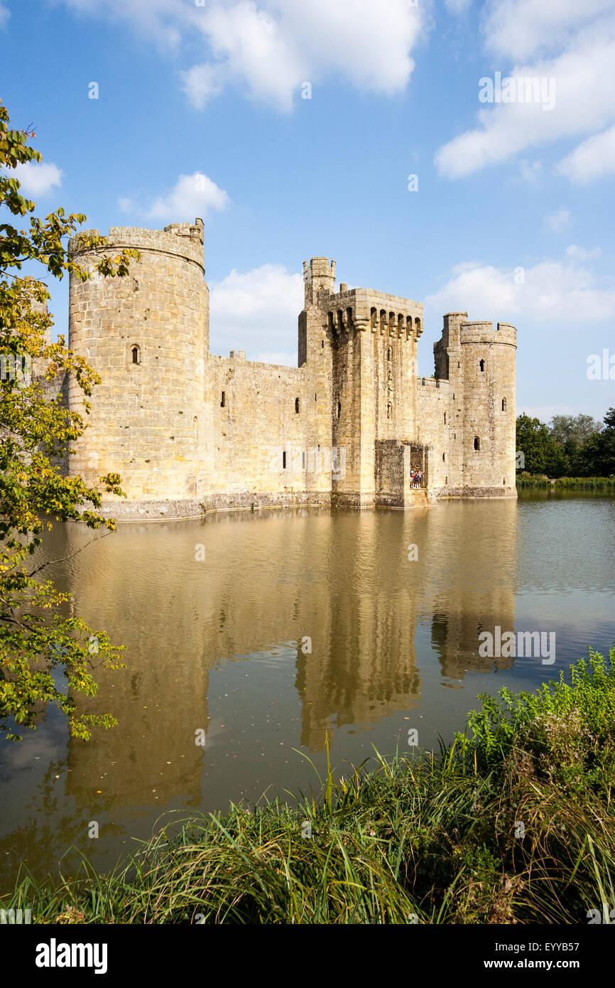 Bodiam Castle England Moat And Castle South West View