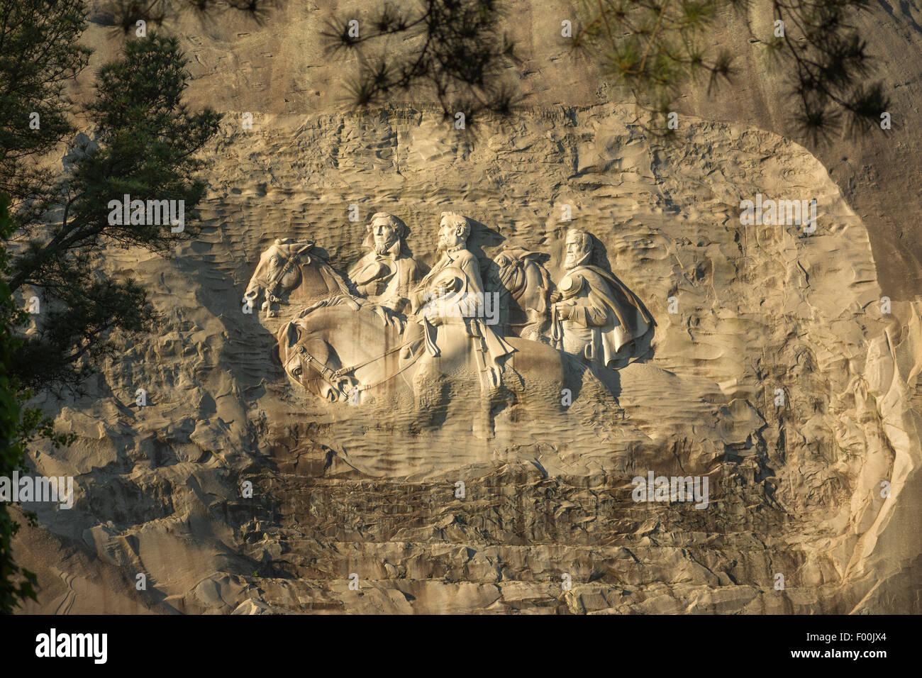 Bas relief carving of confederate american civil war