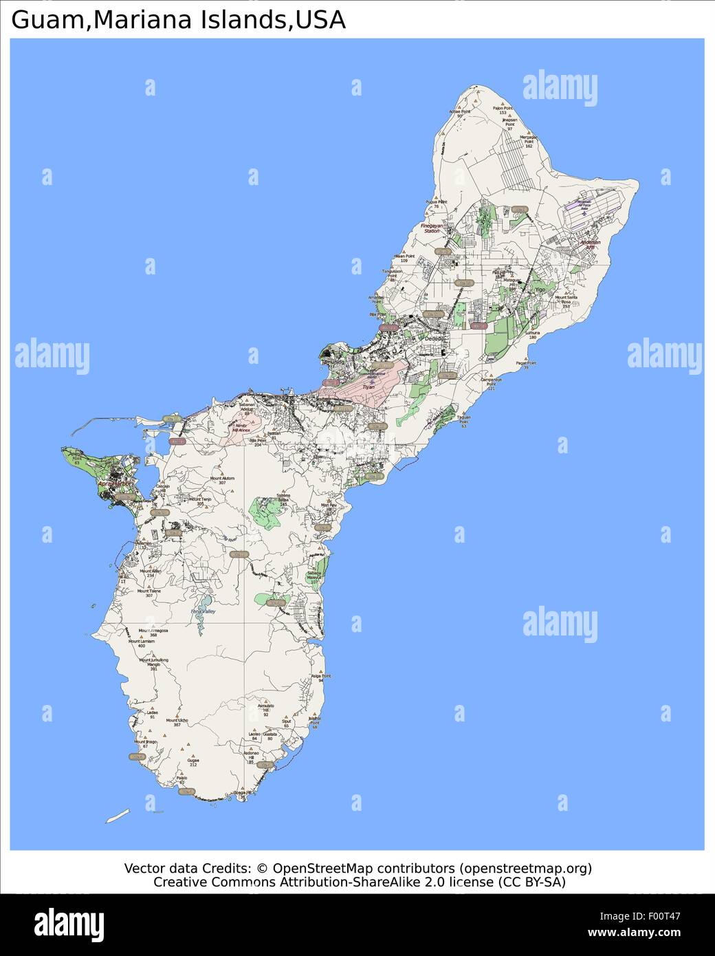 Guam Mariana Islands USA Country City Island State Location Map - Guam location