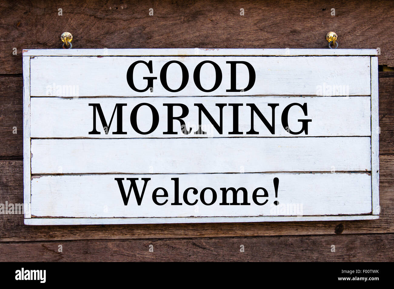 Good Morning Vintage Photos : Good morning welcome inspirational message written on