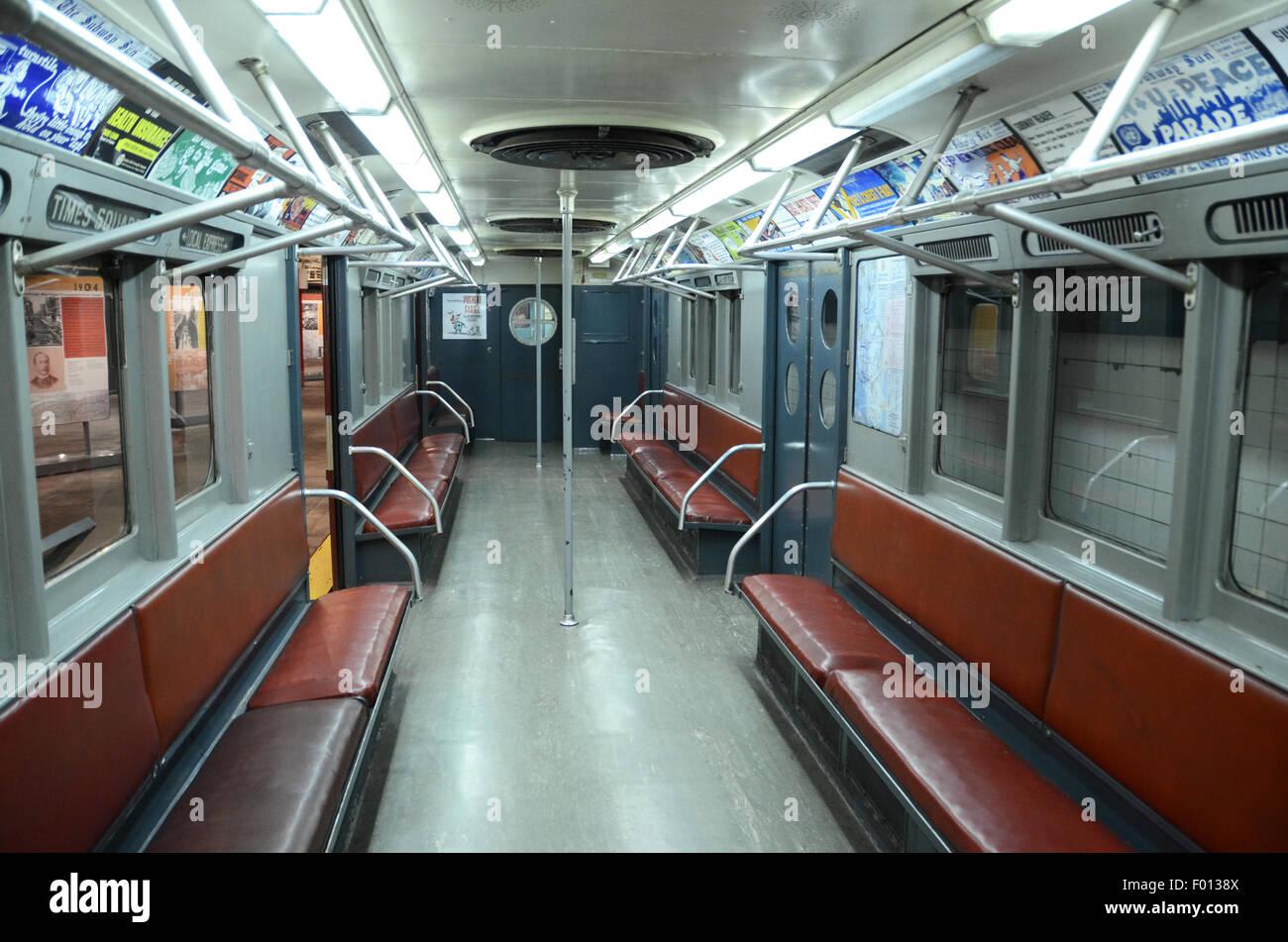 New York Transit Museum Carriage Subway Vintage Subway