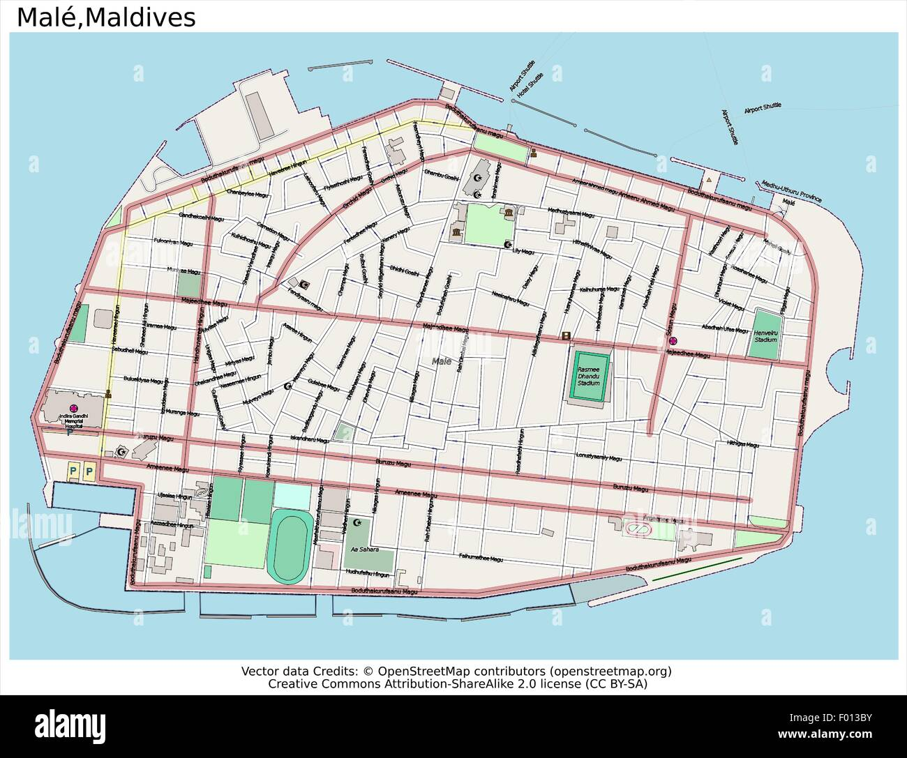 Male Maldives Area City Map Aerial View Stock Vector Art - male map