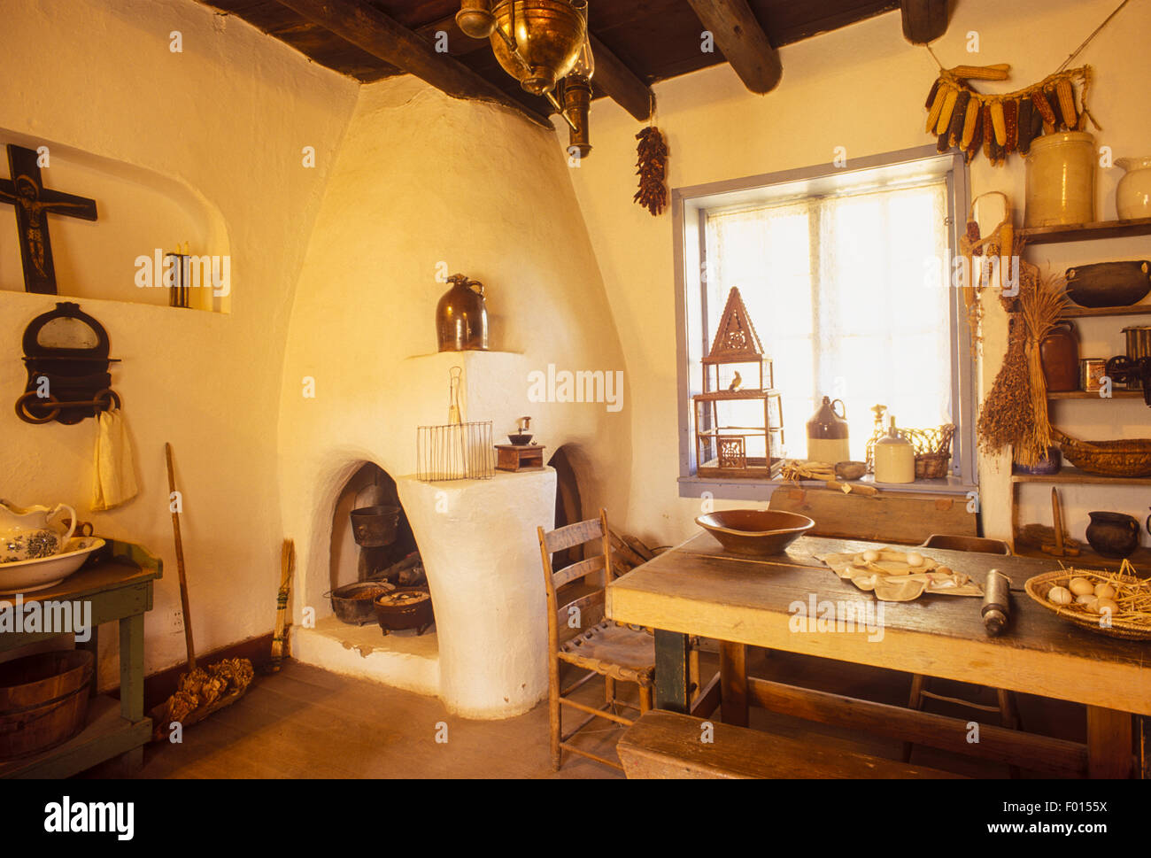 New mexico taos county carson - Kitchen Kit Carson House Taos New Mexico Stock Image